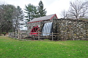 """wayside Grist Mill"" Framed Prints - Sudbury Grist Mill Framed Print by Catherine Reusch  Daley"