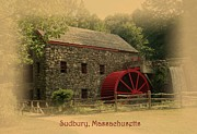 Grist Mill Photos - Sudbury Grist Mill by Patricia Urato