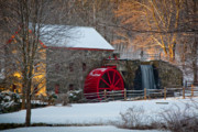 Wayside Inn Grist Mill Framed Prints - Sudbury Gristmill Framed Print by Susan Cole Kelly