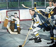 Hockey Paintings - Sudbury in St. Louis by Blair  Haynes