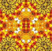 Sudden Heat Mandala Print by Zeana Romanovna