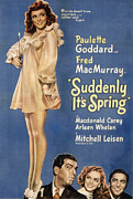 Postv Photos - Suddenly, Its Spring, Paulette Goddard by Everett