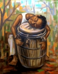 Drums Paintings - Sueno Ancestral by Samuel Lind