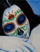 Painted Face Posters - Suenos Pacificos Poster by Al  Molina