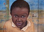 Aids Paintings - Suffer the Children by Dee Youmans-Miller