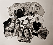Israel Drawings - Suffering-Israel by Tj Voelker