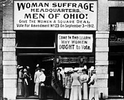 Suffragette Prints - Suffrage Headquarters Print by Granger