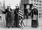 Women Suffrage Prints - SUFFRAGETTES, c1910 Print by Granger