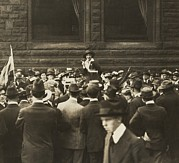 Social Movements Prints - Suffragist Mabel Vernon Speaking Print by Everett