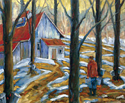 Winter Landscape Paintings - Sugar Bush by Richard T Pranke