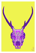Inks Prints - Sugar deer Print by Nelson Dedos Garcia
