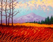 Wine Glasses Paintings - Sugar Loaf - Wicklow - Ireland by John  Nolan