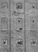 Disrepair Prints - Sugar Mill Broken Windows BW Print by James Bo Insogna