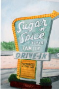 Drive In Painting Framed Prints - Sugar-n-Spice Framed Print by Felix Turner