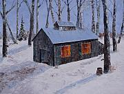 Quebec Paintings - Sugar Shack by Diane Daigle