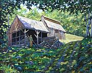 Moonlight Paintings - Sugar Shack in July by Richard T Pranke