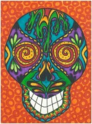 Sugar Skull Drawings Posters - Sugar Skull Poster by Tearee Caswell