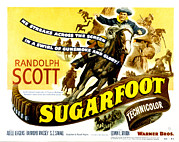 1951 Movies Prints - Sugarfoot, Randolph Scott, 1951 Print by Everett