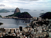 Landmark Pyrography Prints - Sugarloaf Mountain Brasil Print by Salty Elbows