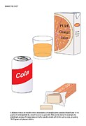 I Drink Posters - Sugary Drinks And Tablets, Artwork Poster by Peter Gardiner
