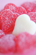 No Love Photo Posters - Sugary Sweet Candy Hearts Poster by Kim Fearheiley Photography