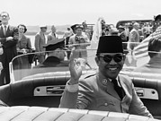 Nationalists Framed Prints - Sukarno, President Of Indonesia Framed Print by Everett