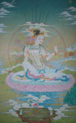 Tibetan Buddhism Paintings - Sukhasiddhi the great Yogini by Binod Art School