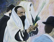 Biblical Holiday Posters - Sukkot Poster by Iris Gill