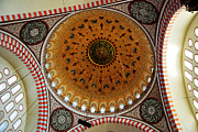 Chandelier Prints - Sulemaniye Mosque Dome Print by Dean Harte
