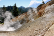 Fumarole Framed Prints - Sulfur Works in Lassen Volcanic Park Framed Print by Christine Till