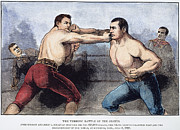 Boxer Photo Framed Prints - Sullivan & Kilrain Fight Framed Print by Granger
