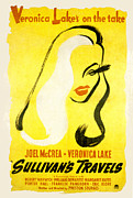 Sullivan Posters - Sullivans Travels, Veronica Lake Poster by Everett