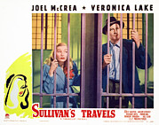 Mccrea Framed Prints - Sullivans Travels, Veronica Lake, Joel Framed Print by Everett