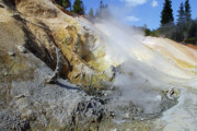 Travel California Prints - Sulphur Works - Lassen Volcanic National Park Print by Christine Till