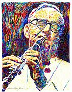 Musician Portrait Painting Originals - Sultan of Swing - Benny Goodman by David Lloyd Glover
