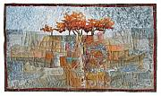 Stones Tapestries - Textiles Originals - Sumac Ridge by Lorraine Roy