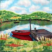Lake Tapestries - Textiles Originals - Sumer Reflections by Linda Marcille