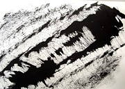 E Black Drawings Prints - Sumi-e 120727-4 Print by Aquira Kusume