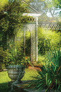 Lattice Framed Prints - Summer - Landscape - By the entrance of the Garden Framed Print by Mike Savad