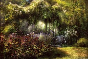 Ray Photo Prints - Summer - Landscape - Eves Garden Print by Mike Savad