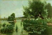 Lily Pad Framed Prints - Summer - one of a set of the four seasons Framed Print by Arthur Walker Redgate