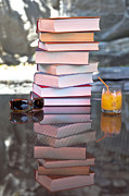 Orange Juice Prints - Summer - reading time Print by Joana Kruse