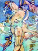 Figural Pastels Originals - Summer 1 by Michal Rezanka