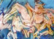Figural Pastels Originals - Summer 2 by Michal Rezanka