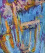 Figural Pastels Originals - Summer Abstract 1 by Michal Rezanka