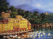 Portofino Italy Originals - Summer afternoon in Portofino by R W Goetting