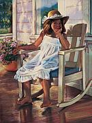 Rocking Chair Posters - Summer Afternoon Poster by Jean Hildebrant
