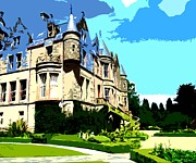 Architecture Mixed Media Prints - Summer At Belfast Castle Print by Patrick J Murphy