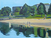 South Beach Paintings - Summer at Castle Island by Deb Putnam