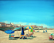 Rower Digital Art Prints - Summer at Salisbury Beach Print by Anthony Ross